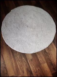 #dywan ze sznurka bawełnianego śr.110cm #CARPET round, MEDIUMgrey