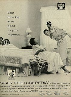 1963 Ad, Sealy Posturepedic Mattress