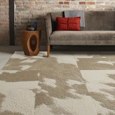 Shop Mod Cow with cowhide pattern. With FLOR you can create custom, eco-friendly area rugs, runners & wall-to-wall designs. Carpet Squares, Brown Carpet, Best Carpet, Carpet Tiles, Carpet Colors, Living Room Carpet, Living Room Inspiration, Decoration, Wall Design