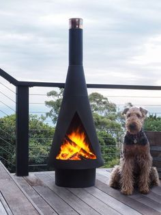 This Denver Large Steel Chiminea comes with a BBQ grill and is perfect for enteraining guests in any outdoor space.