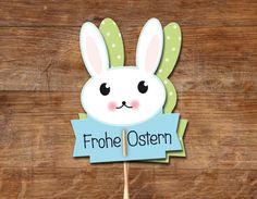 Osterdeko - Osterhäschen, 3 Bögen - ein Designerstück von Maid-und-Held bei DaWanda