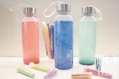 Rauhoittumispullo - apuväline tunteiden käsittelemiseen Water Bottle, Good Things, Drinks, Ideas, Drinking, Beverages, Water Bottles, Drink, Thoughts