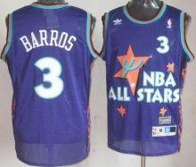Philadelphia 76ers 3 Dana Barros Purple 1995 All Star Throwback Jersey Wholesale Cheap