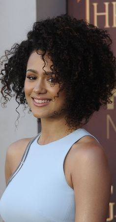 Nathalie Emmanuel at event of Game of Thrones Biracial Women, Biracial Hair, Beautiful Celebrities, Beautiful Actresses, Beautiful Women, Hottest Game Of Thrones, Curly Hair Styles, Natural Hair Styles, Cute Celebrity Couples