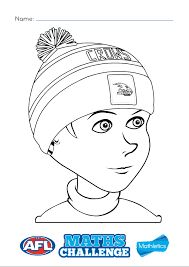 afl colouring pages - Google Search | Library Alphabet | Pinterest