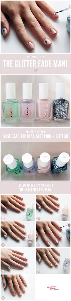 1. Begin with a good base coat (I used Essie's Good To Go Top Coat). Always begin with a base coat underneath your polish to prevent them from discoloration!