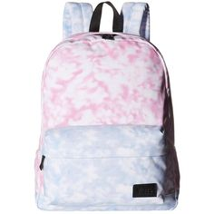 Vans Deana III Backpack ((Tie-Dye) Rose Violet) Backpack Bags ($36) ❤ liked on Polyvore featuring bags, backpacks, accessories, backpack, blue, violet bags, blue backpack, day pack backpack, rosette bag and knapsack bag