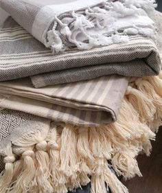 www.theneutralhouse.com  Handwoven hamam towels and throws