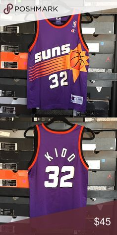 9e6cf541f Champion Phoenix Suns Jason Kidd Jersey Vintage Champion Phoenix Suns Jason  Kidd Jersey. Kids size Large 14-16. Excellent condition. No rips or stains.