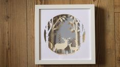 A must-have home decor gem. DIY paper design kit from Chipola Studio. #chipola #paperart #homedecor #deer #birchtrees