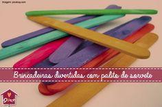 Confira como desenvolver a coordenação motora, aprender sobre, cores, letras e formas, utilizando apenas palito de sorvete
