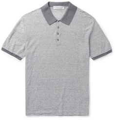 Gieves   Hawkes Slim-Fit Striped Linen And Cotton-Blend Polo Shirt 47e67846e3bd9