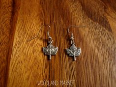 Oh Canada! Silver Maple Leaf Charm Earrings, FREE SHIPPING! on Etsy, $6.72 CAD