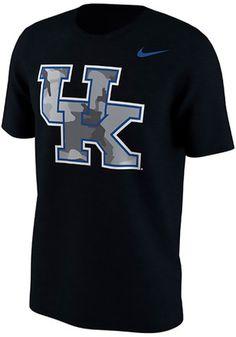 Nike Kentucky Mens Black Camo Fresh Tee