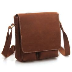 Handmade Superior Crazy Horse Leather Messenger Satchel Ipad Bag