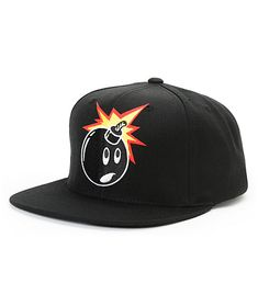 6a6147ed62c Get some pure street style with The Hundreds Adam Snap black snapback hat.  This all