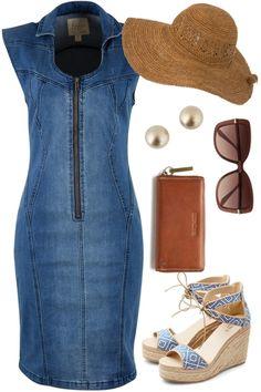 Denim Diva Outfit includes boho bird, Walnut, and Seafolly - Birdsnest Online Store