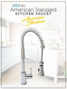**This giveaway is now closed. Congrats to our winner!** National Builder Supply is giving away a luxury American Standard kitchen faucet. Giveaway ends November 26, so you'll have the faucet in time to cook Christmas dinner! Good luck!