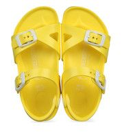 Gele Birkenstock kinderschoenen Rio sandalen