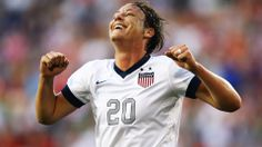 HARRISON, NJ - JUNE 20: Abby Wambach #20 of the USA 157th International goal against Korea Republic during the first half of their game at R...