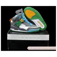 59c2746a0dce26 Big Kids Jordan Shoes Kids Jordan Spizikes Grey Blue Green  Kids Jordan  Spizikes - You can get these Jordan Spizikes shoes for your kids on our  site.