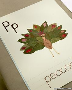 When the leaves start falling from the trees, school is officially underway. This easy-to-make leaf collage offers a great way to teach children about different trees, foliage, and the alphabet. In fact, as stylist Helen Quinn explains, it may even encourage them to do some raking in the backyard. For her collage, Helen used a variety of leaves, including larkspur, wild geranium, aspen, dogwood, maidenhair fern, maple, oak, Japanese maple, and sumac. If you live in a part of the country...