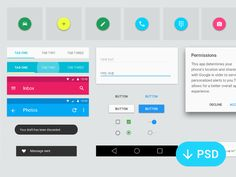 Created a Android L GUI pack for myself. I thought i might share it on dribbble if anyone else wants it too.   Everything is vector, the screen designs are smart objects you can open.   DOWNLOAD NOW