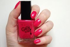 Review and swatch of Avon Gel Finish Nail Enamel in Pink Shimmer