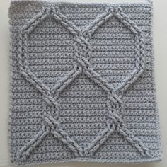 Crochet Cables Square 2: Chain Link Cables; part 2, rows 3 - 4