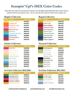 HEX Color Codes Stampin Up 2012-2013.pdf