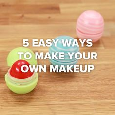 5 Easy Ways To Make Your Own Makeup #DIY #creative #makeup #lipstick
