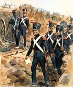 Military Art, Military History, Waterloo 1815, French Army, Napoleonic Wars, Train, Baseball Cards, Empire, Painting