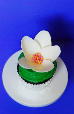 Water lilly topper made from candy melts