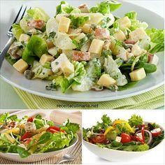 Aprenda a fazer uma deliciosa salada de verão ⋆ Veg Recipes, Vegetarian Recipes, Healthy Recipes, Comidas Lights, Foods With Gluten, Vegan Gluten Free, Street Food, Cobb Salad, Entrees