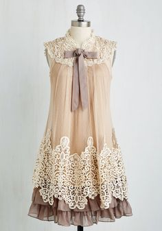 Expression of Elegance Dress in Taupe, #ModCloth