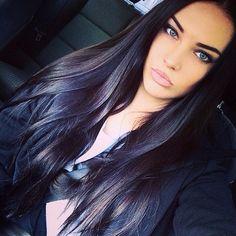 Her hair and makeup. Woah.