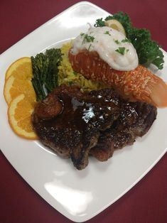 Our culinary team decided to celebrate National Lobster Day with the classic dish of Surf & Turf! Nothing like homemade cooking! Clarendon Hills, Surf And Turf, Birches, Assisted Living, Homemade, Cooking, Classic, Food, Cuisine