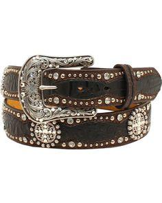 Size SMALL CB2 Mens BLACK Genuine Leather Studded Belt