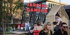 Jardins Gamelin : le lieu de tous les rendez-vous | Quartier des spectacles Spectacle, Fair Grounds, Fun, Travel, Gardens, Places, Viajes, Destinations, Traveling