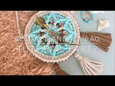 Tシャツヤーンで作るバッグの編み方②/Tutorial Mandala crochet bag part 2 (t-shirt yarn / trapillo ) - YouTube