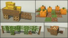 Plans Minecraft, Minecraft Farm, Minecraft Castle, Cute Minecraft Houses, Minecraft House Designs, Minecraft Construction, Amazing Minecraft, Minecraft Tutorial, Minecraft Blueprints