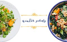 Winter Salads: Roasted Sweet Potato & Kale + Persimmon & Watercress OH MY!