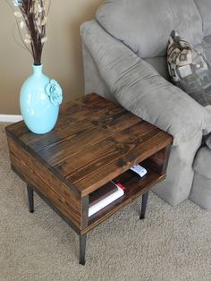 Reserved - End Table - Side Table - Modern Yet Rustic Look