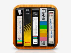Fivee icon app ver. 02 by Fernando Alcazar- this is another nice little retro app with the vch tapes haha i remember those- they have kept such nice details to the cases-