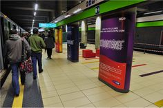 Campagna affissioni Ultra internet in metro - Yes I AM per Telecom Italia Internet, Italia