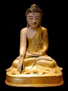 Mandalay Gilt Wooden Sculpture of Buddha Origin: Myanmar Circa: 19 th Century AD