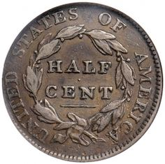 """""""Christmas is coming, the goose is getting fat.  Please put a penny in the old man's hat.  If you haven't got a penny, a ha'penny will do,  If you haven't got a ha'penny then God bless you!""""    Click the link below this blurb for a closer look at United States Half Cents."""
