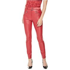 07fe344446f GUESS Kate Moto Skinny Pants ( 98) ❤ liked on Polyvore featuring pants