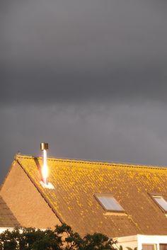 Woensdag 2 september 2015, Almere. Eerste en laatste zonnestralen van de dag.