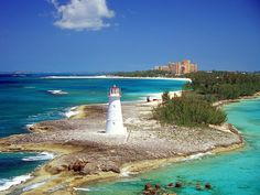 A lighthouse in the Bahamas...